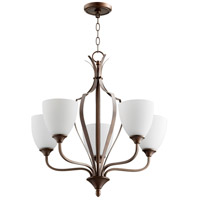 Quorum 6127-5-86 Jardin 5 Light 30 inch Oiled Bronze Chandelier Ceiling Light