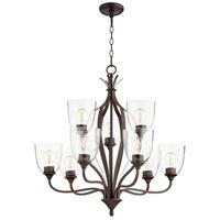Quorum 6127-9-286 Jardin 9 Light 30 inch Oiled Bronze Chandelier Ceiling Light