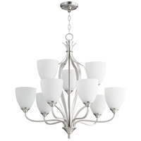 Quorum 6127-9-65 Jardin 9 Light 30 inch Satin Nickel Chandelier Ceiling Light