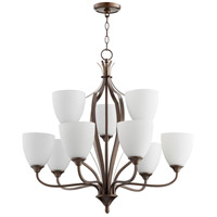 Quorum 6127-9-86 Jardin 9 Light 30 inch Oiled Bronze Chandelier Ceiling Light