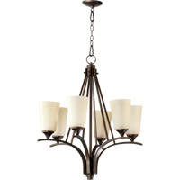 Quorum 6129-6-186 Winslet II 6 Light 26 inch Oiled Bronze Chandelier Ceiling Light