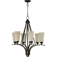 Quorum International Winslet 6 Light Chandelier in Oiled Bronze 6129-6-86