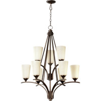 Quorum 6129-9-186 Winslet II 9 Light 30 inch Oiled Bronze Chandelier Ceiling Light