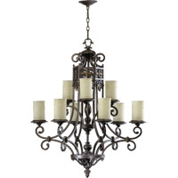 Quorum International Marcela 9 Light Chandelier in Oiled Bronze 6131-9-86