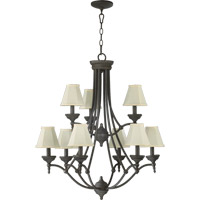 Quorum International Ashton 9 Light Chandelier in Toasted Sienna 6136-9-44