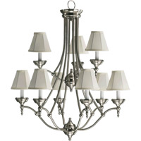 Quorum International Ashton 9 Light Chandelier in Satin Nickel 6136-9-65