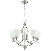 Quorum 614-5-65 Flora 5 Light 22 inch Satin Nickel Chandelier Ceiling Light