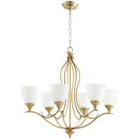 Quorum 614-6-80 Flora 6 Light 29 inch Aged Brass Chandelier Ceiling Light