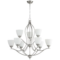 Quorum 614-9-65 Flora 9 Light 29 inch Satin Nickel Chandelier Ceiling Light