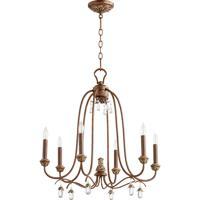 Quorum 6144-6-39 Venice 6 Light 25 inch Vintage Copper Chandelier Ceiling Light