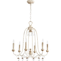 Quorum 6144-6-70 Venice 6 Light 25 inch Persian White Chandelier Ceiling Light
