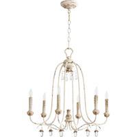 Quorum Venice 6 Light Chandelier in Persian White 6144-6-70