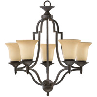 Coventry 5 Light 25 inch Toasted Sienna Chandelier Ceiling Light in Amber Scavo