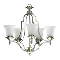 Coventry 5 Light 25 inch Satin Nickel Chandelier Ceiling Light in Faux Alabaster