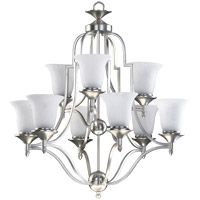 Coventry 9 Light 27 inch Satin Nickel Chandelier Ceiling Light