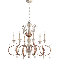 Quorum 6152-6-56 La Maison 6 Light 36 inch Manchester Grey with Rust Accents Chandelier Ceiling Light