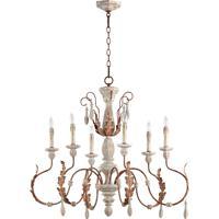 Quorum 6152-6-56 La Maison 6 Light 36 inch Manchester Grey with Rust Accents Chandelier Ceiling Light