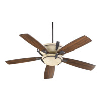 Quorum International Mendocino 3 Light Ceiling Fan in Toasted Sienna with Toasted Sienna Blades 61525-944