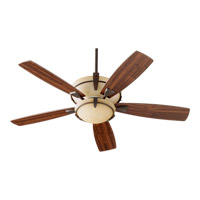 Quorum International Mendocino 3 Light Ceiling Fan in Oiled Bronze 61525-986