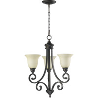 Quorum International Bryant 3 Light Chandelier in Oiled Bronze 6154-3-86