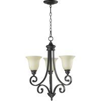 Quorum 6154-3-86 Bryant 3 Light 21 inch Oiled Bronze Chandelier Ceiling Light in Amber Scavo