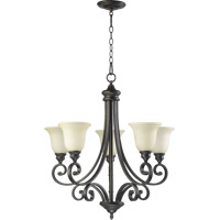 Quorum 6154-5-86 Bryant 5 Light 28 inch Oiled Bronze Chandelier Ceiling Light in Amber Scavo
