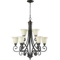 Quorum 6154-9-86 Bryant 9 Light 31 inch Oiled Bronze Chandelier Ceiling Light in Amber Scavo