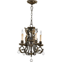 Quorum 6157-4-44 Rio Salado 4 Light 15 inch Toasted Sienna With Mystic Silver Chandelier Ceiling Light