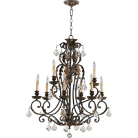 Quorum 6157-9-44 Rio Salado 9 Light 32 inch Toasted Sienna With Mystic Silver Chandelier Ceiling Light