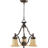 Coventry 3 Light 19 inch Toasted Sienna Dinette Chandelier Ceiling Light