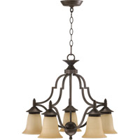 Quorum 616-5-44 Coventry 5 Light 22 inch Toasted Sienna Dinette Chandelier Ceiling Light