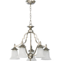 Coventry 5 Light 22 inch Satin Nickel Dinette Chandelier Ceiling Light