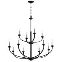 Quorum 6160-12-69 Reyes 12 Light 39 inch Noir Chandelier Ceiling Light Quorum Home