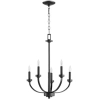 Quorum 6160-5-69 Reyes 5 Light 26 inch Noir Chandelier Ceiling Light
