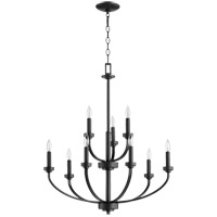 Quorum 6160-9-69 Reyes 9 Light 31 inch Noir Chandelier Ceiling Light