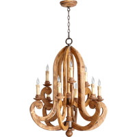 Quorum International Ashford 9 Light Chandelier in Provincial with Rustic Iron Accents 6163-9-23