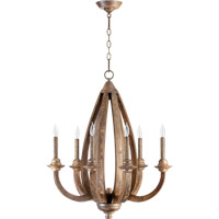 Quorum 6166-6-21 Telluride 6 Light 25 inch Early American Chandelier Ceiling Light