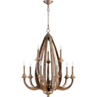 Quorum International Telluride 9 Light Chandelier in Early American 6166-9-21