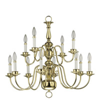 Quorum International Signature 12 Light Chandelier in Polished Brass 6171-12-2