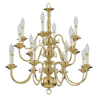 Quorum International Signature 16 Light Chandelier in Polished Brass 6171-16-2