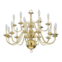 Quorum International Signature 18 Light Chandelier in Polished Brass 6171-18-2