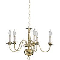 Quorum International Signature 5 Light Chandelier in Polished Brass 6171-5-2