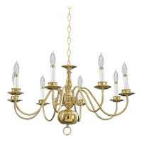 Quorum International Signature 8 Light Chandelier in Polished Brass 6171-8-2