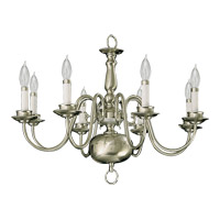Quorum International Signature 8 Light Chandelier in Satin Nickel 6171-8-65