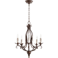 Flora 5 Light 20 inch Vintage Copper Chandelier Ceiling Light
