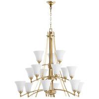 Quorum 6177-15-60 Aspen 15 Light 41 inch Aged Silver Leaf Chandelier Ceiling Light