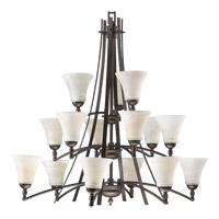 Quorum 6177-15-86 Aspen 15 Light 41 inch Oiled Bronze Chandelier Ceiling Light