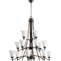 Quorum 6177-15186 Aspen 15 Light 41 inch Oiled Bronze Chandelier Ceiling Light