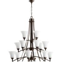 Quorum 6177-15186 Aspen 15 Light 41 inch Oiled Bronze Chandelier Ceiling Light