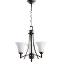 Quorum 6177-3-186 Aspen 3 Light 21 inch Oiled Bronze Chandelier Ceiling Light